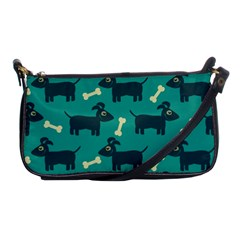 Happy Dogs Animals Pattern Shoulder Clutch Bags