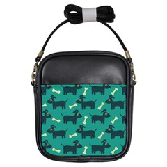 Happy Dogs Animals Pattern Girls Sling Bags