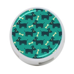 Happy Dogs Animals Pattern 4-Port USB Hub (Two Sides)