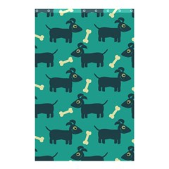 Happy Dogs Animals Pattern Shower Curtain 48  X 72  (small)