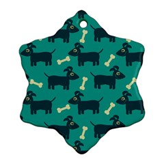 Happy Dogs Animals Pattern Ornament (snowflake)