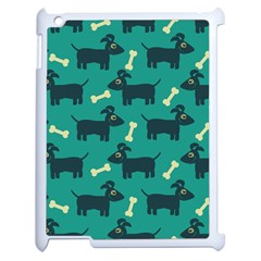 Happy Dogs Animals Pattern Apple iPad 2 Case (White)