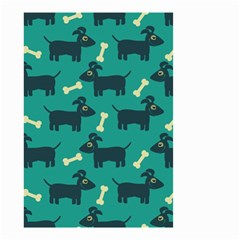 Happy Dogs Animals Pattern Small Garden Flag (Two Sides)