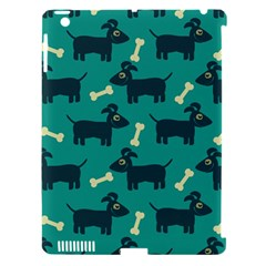 Happy Dogs Animals Pattern Apple iPad 3/4 Hardshell Case (Compatible with Smart Cover)