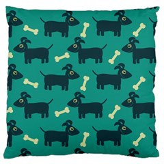 Happy Dogs Animals Pattern Large Cushion Case (Two Sides)