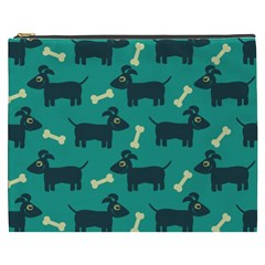 Happy Dogs Animals Pattern Cosmetic Bag (XXXL)