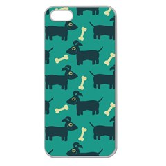 Happy Dogs Animals Pattern Apple Seamless Iphone 5 Case (clear)