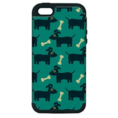 Happy Dogs Animals Pattern Apple Iphone 5 Hardshell Case (pc+silicone)