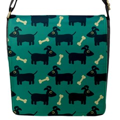 Happy Dogs Animals Pattern Flap Messenger Bag (s)