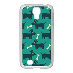 Happy Dogs Animals Pattern Samsung Galaxy S4 I9500/ I9505 Case (white)