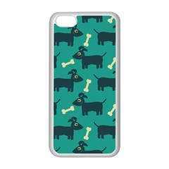 Happy Dogs Animals Pattern Apple Iphone 5c Seamless Case (white)