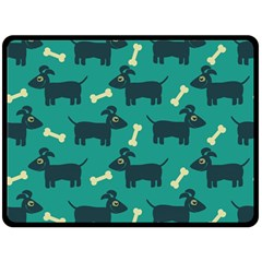 Happy Dogs Animals Pattern Double Sided Fleece Blanket (Large)