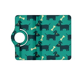 Happy Dogs Animals Pattern Kindle Fire Hd (2013) Flip 360 Case