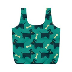 Happy Dogs Animals Pattern Full Print Recycle Bags (m)