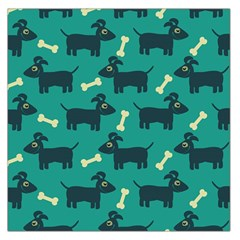 Happy Dogs Animals Pattern Large Satin Scarf (square)