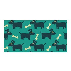 Happy Dogs Animals Pattern Satin Wrap