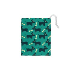 Happy Dogs Animals Pattern Drawstring Pouches (XS)