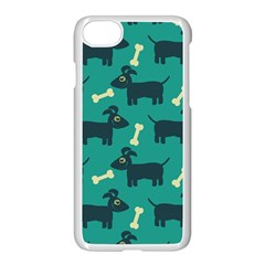 Happy Dogs Animals Pattern Apple Iphone 7 Seamless Case (white)