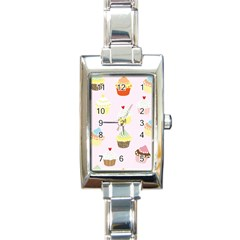 Seamless Cupcakes Wallpaper Pattern Background Rectangle Italian Charm Watch