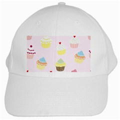 Seamless Cupcakes Wallpaper Pattern Background White Cap