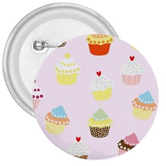 Seamless Cupcakes Wallpaper Pattern Background 3  Buttons