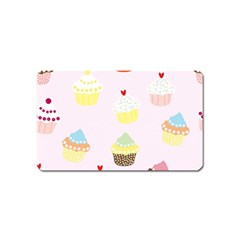 Seamless Cupcakes Wallpaper Pattern Background Magnet (Name Card)
