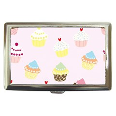 Seamless Cupcakes Wallpaper Pattern Background Cigarette Money Cases