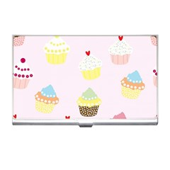 Seamless Cupcakes Wallpaper Pattern Background Business Card Holders