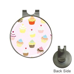 Seamless Cupcakes Wallpaper Pattern Background Hat Clips with Golf Markers