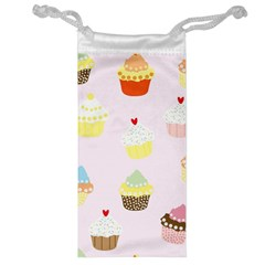 Seamless Cupcakes Wallpaper Pattern Background Jewelry Bag