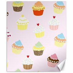 Seamless Cupcakes Wallpaper Pattern Background Canvas 8  x 10