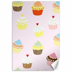 Seamless Cupcakes Wallpaper Pattern Background Canvas 12  X 18
