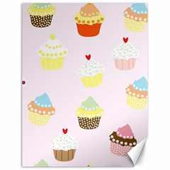 Seamless Cupcakes Wallpaper Pattern Background Canvas 18  x 24