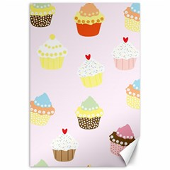 Seamless Cupcakes Wallpaper Pattern Background Canvas 24  x 36