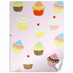 Seamless Cupcakes Wallpaper Pattern Background Canvas 36  x 48