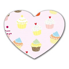 Seamless Cupcakes Wallpaper Pattern Background Heart Mousepads