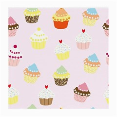 Seamless Cupcakes Wallpaper Pattern Background Medium Glasses Cloth (2-Side)