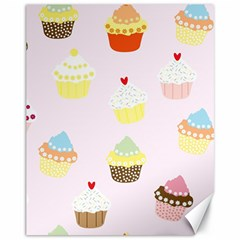 Seamless Cupcakes Wallpaper Pattern Background Canvas 11  x 14
