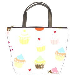 Seamless Cupcakes Wallpaper Pattern Background Bucket Bags