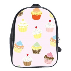 Seamless Cupcakes Wallpaper Pattern Background School Bags(large)