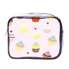 Seamless Cupcakes Wallpaper Pattern Background Mini Toiletries Bags