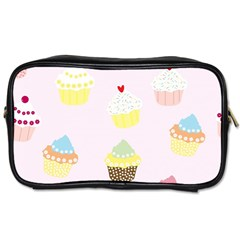 Seamless Cupcakes Wallpaper Pattern Background Toiletries Bags