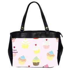 Seamless Cupcakes Wallpaper Pattern Background Office Handbags (2 Sides)