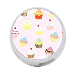 Seamless Cupcakes Wallpaper Pattern Background 4-Port USB Hub (One Side)