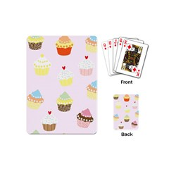 Seamless Cupcakes Wallpaper Pattern Background Playing Cards (Mini)