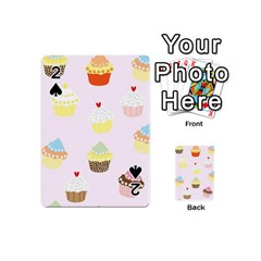 Seamless Cupcakes Wallpaper Pattern Background Playing Cards 54 (mini)