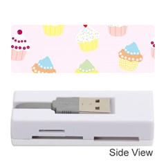 Seamless Cupcakes Wallpaper Pattern Background Memory Card Reader (Stick)