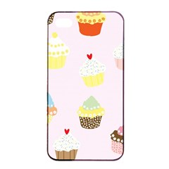 Seamless Cupcakes Wallpaper Pattern Background Apple iPhone 4/4s Seamless Case (Black)