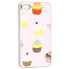 Seamless Cupcakes Wallpaper Pattern Background Apple iPhone 4/4s Seamless Case (White)
