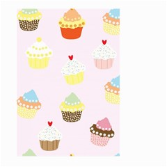 Seamless Cupcakes Wallpaper Pattern Background Large Garden Flag (Two Sides)